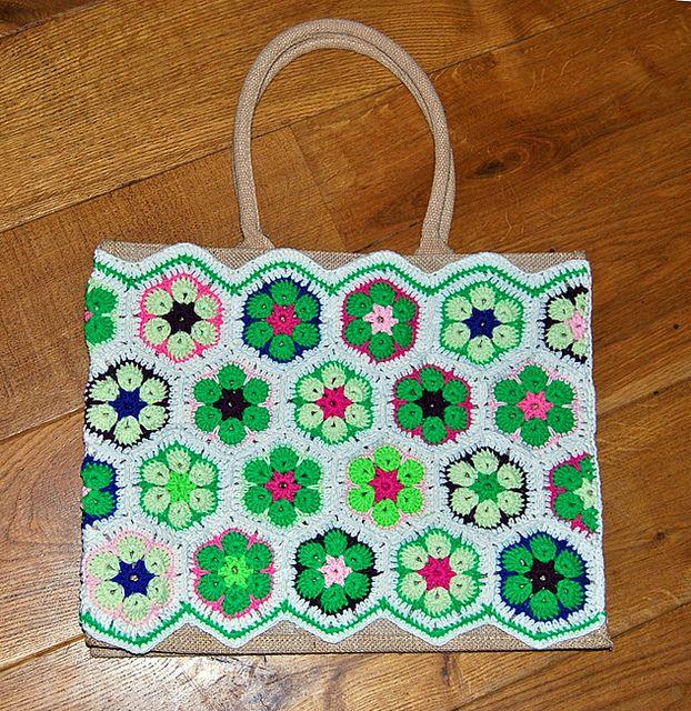 Hexagon Crochet Bag Pattern : ... patterns library african flower hexagon crochet tutorial cq # crochet