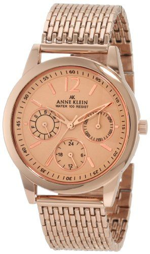 Anne Klein rose gold watch.