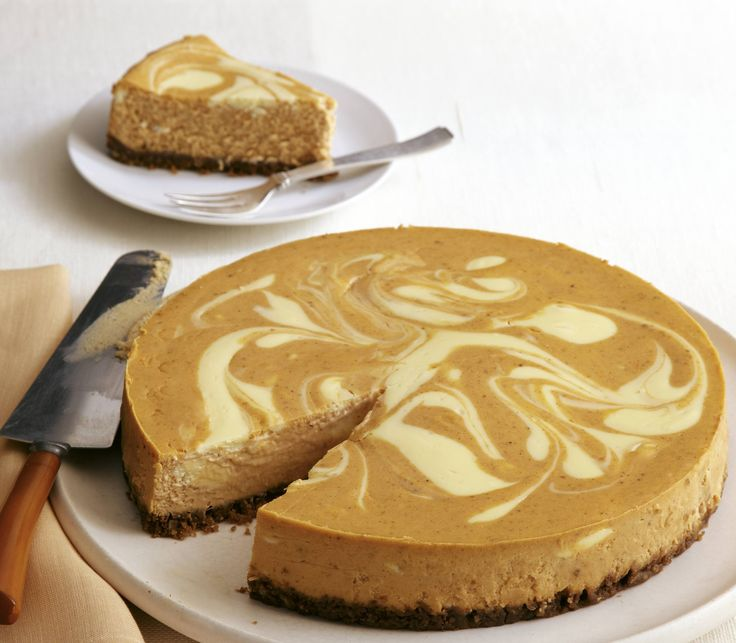 ... the fall with a Double Layer Pumpkin Cheesecake. #recipe #dessert