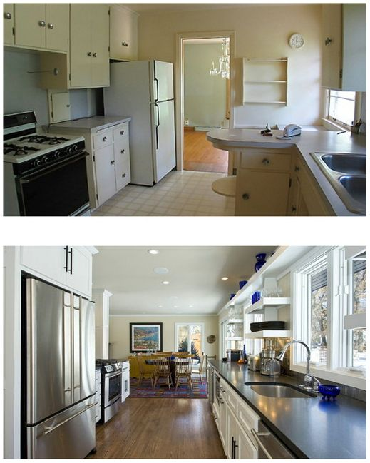 Houzz before and after