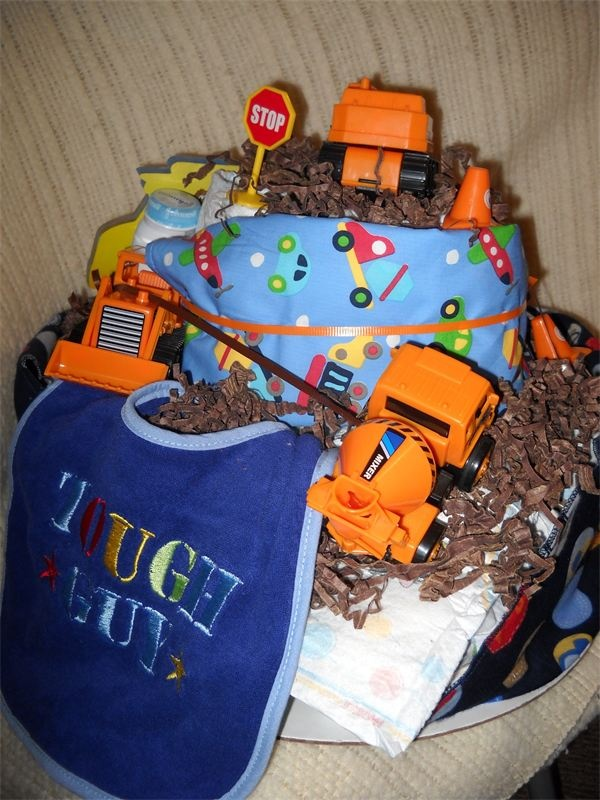 construction diaper cake