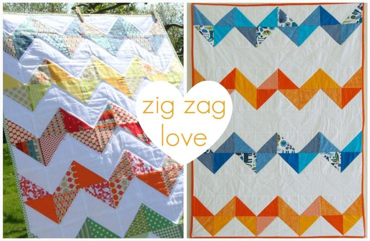 Zig Zag Love Quilt Pattern : charm squares zig-zag quilt Crafty Pinterest
