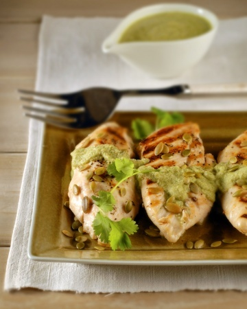 Grilled Chicken with Pumpkin-Seed Sauce | Grill | Pinterest