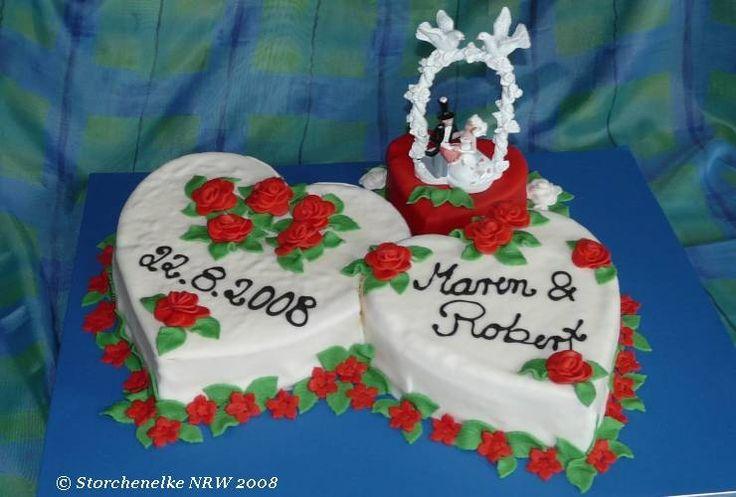 Hochzeitstorte 3 Herzen  wedding cake  Pinterest