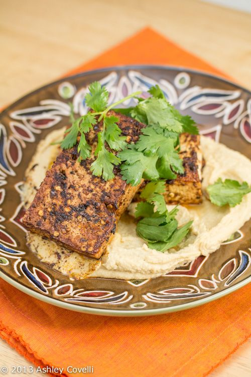 Chilli-Spiced Tofu with Hummus | food glorious food | Pinterest