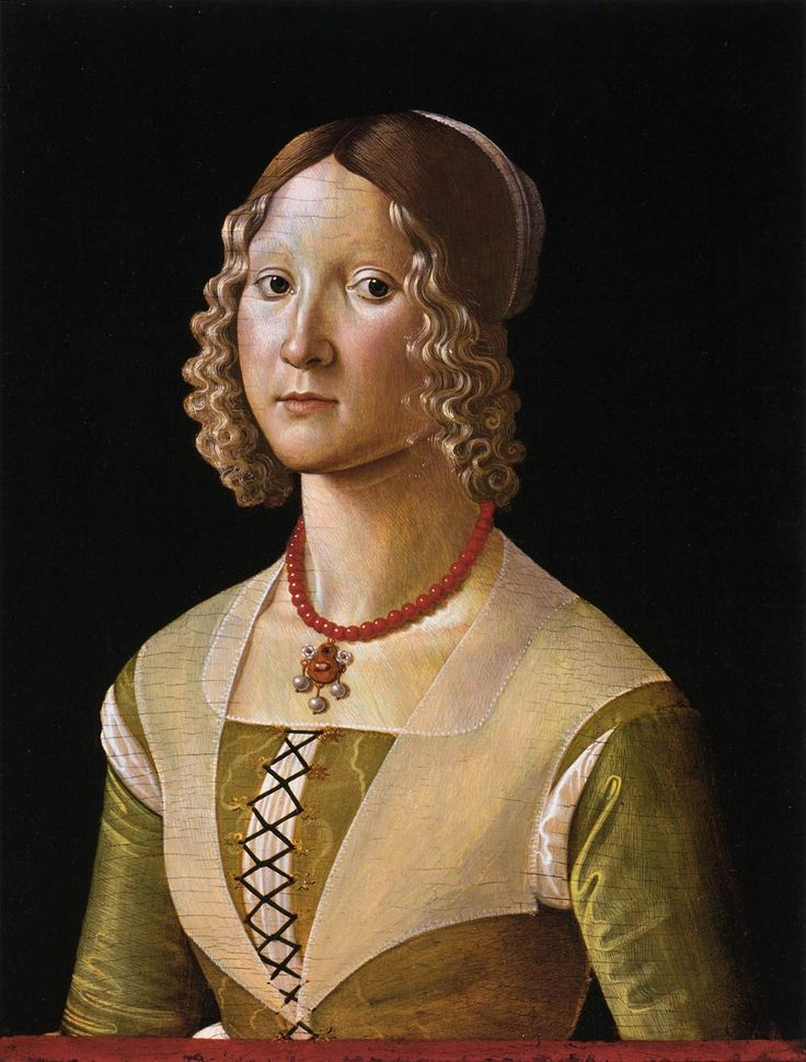 1490  GHIRLANDAIO, Davide  Portrait of Selvaggia Sassetti  Tempera on panel, 57 x 44 cm  Metropolitan Museum of Art, New York