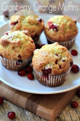 ... Orange Muffins #cranberry #muffins #breakfast #orange #holiday