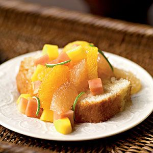 Tropical Lime Torte With Mango Compote Recipe — Dishmaps