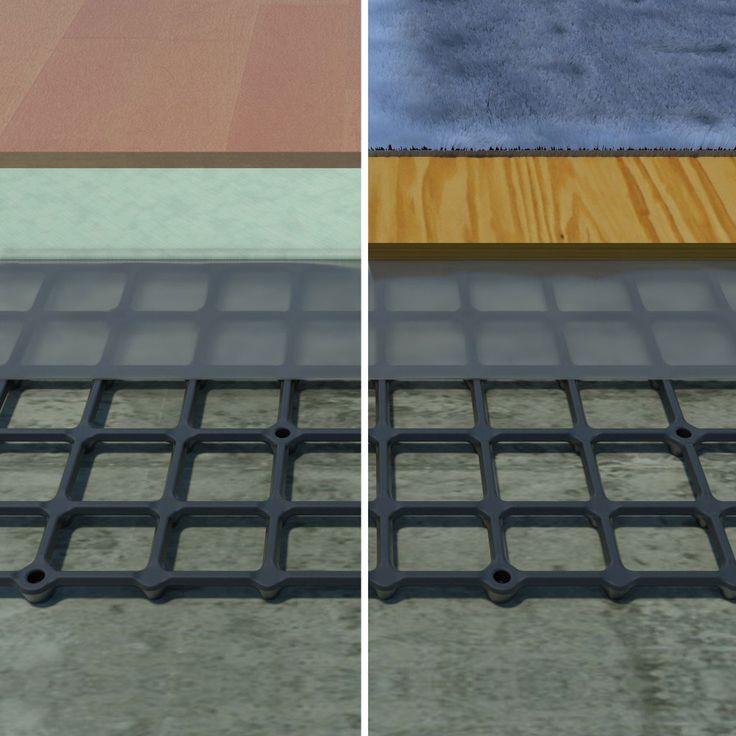 subfloor for basement concrete floor subfloor applications