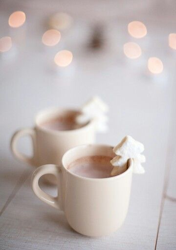 Hot chocolate and tree marshmallows. #SparkleSeason