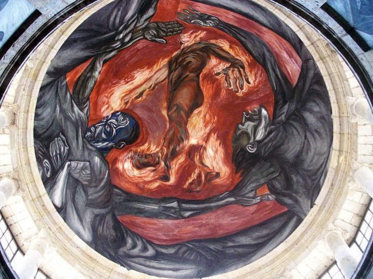 Pin by xuancarlos hern ndez on art pinterest for El hombre de fuego mural de jose clemente orozco