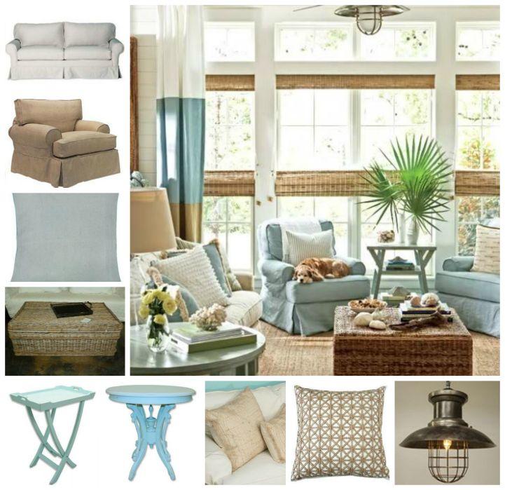 Coastal Cottage Living Room Beach House Pinterest