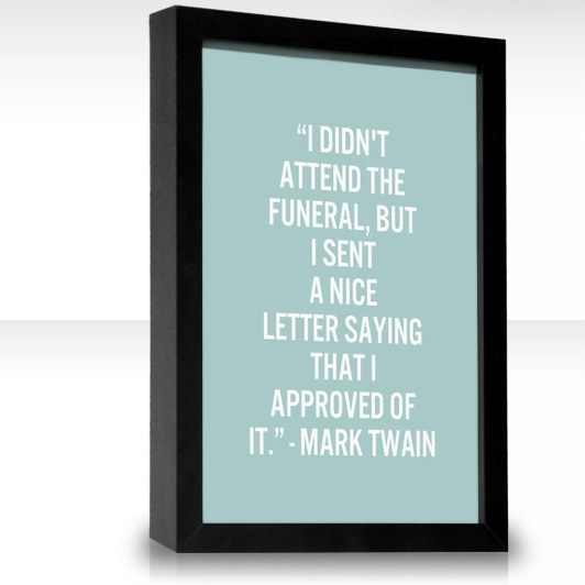 at the funeral mark twain essay