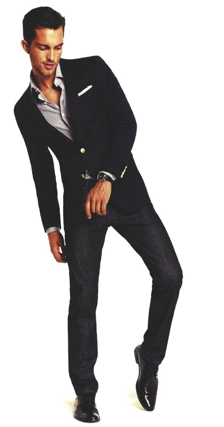 Men Blazer with Jeans | Classy | Pinterest