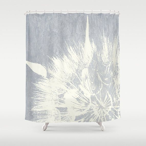 Shower curtain dandelion