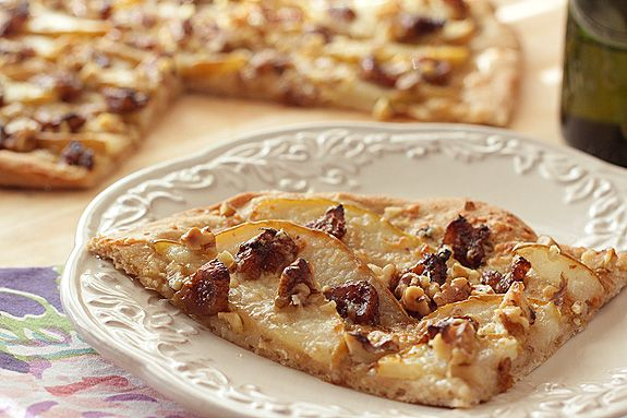 White Pizza with Walnuts, Pears and Balsamic Glazed Figs – and a ...