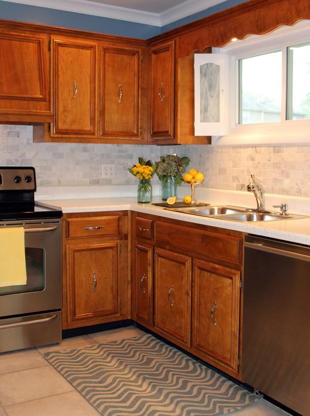 diy finished marble kitchen backsplash diy pinterest