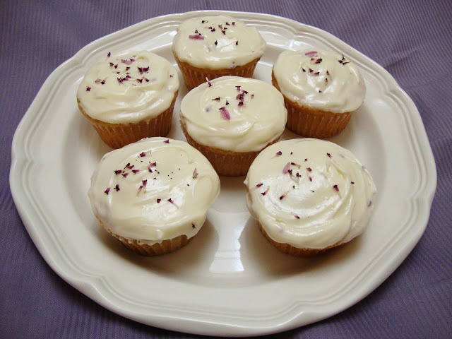 Chelsea's Culinary Indulgence: Lavender and Honey Cupcakes