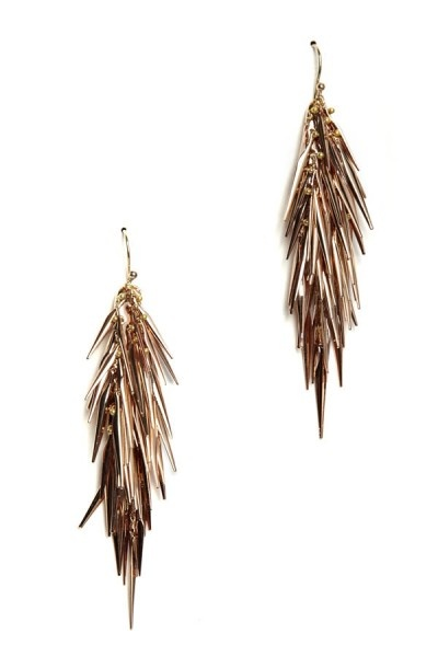 Alexis bittar large spike earring in rose gold