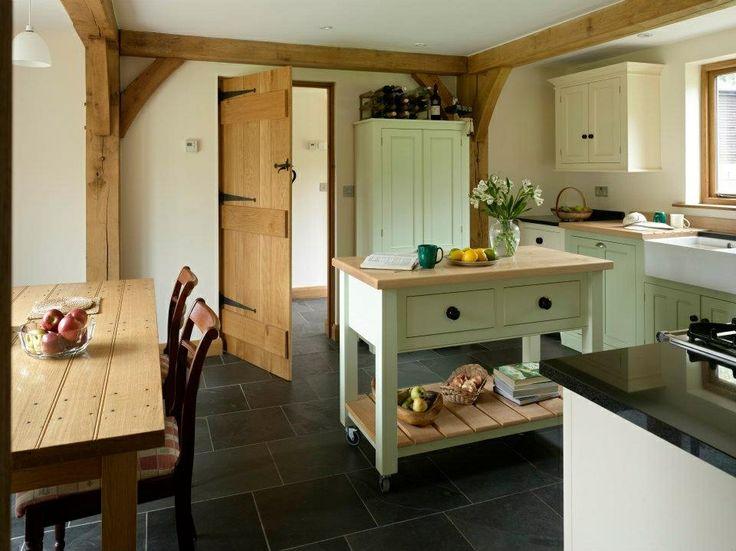 Pale green and cream cabinets in Kitchen  green kitchen  Pinterest