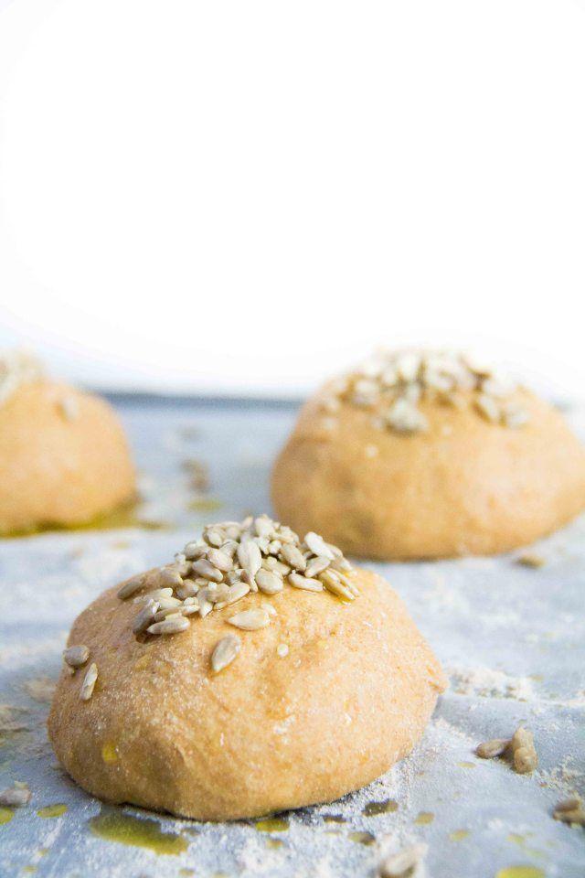 Whole wheat brioche buns | Healthier Baking Recipes | Pinterest