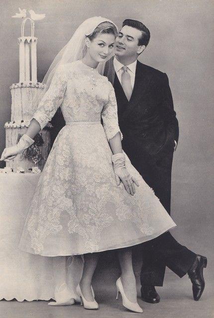 Vintage 60s wedding 1960s pinterest Wedding dress 1960