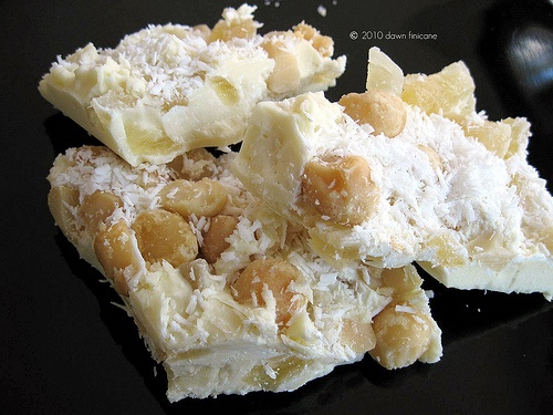 white chocolate tropical bark | Desserts | Pinterest