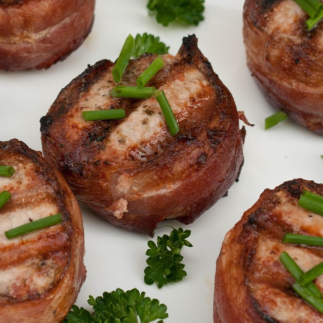 ... Albacore Aka Broiled Bacon-Wrapped Tuna Medallions Recipe — Dishmaps