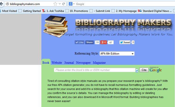 apa in bibliography