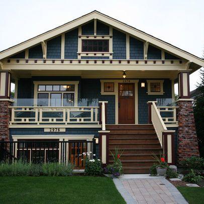 craftsman bungalow exterior color blue joy studio design