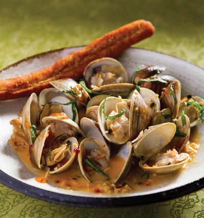 Pepper Jelly Braised Clams with Bacon & Mint - East Meets South - New ...