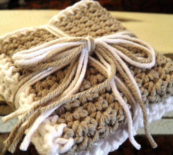 Crocheted Cloths Kitchen Powder Room set by savedbygracecreation, $8