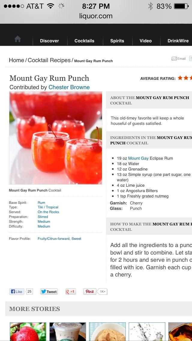 Barbados Rum punch | Bajan Rum & Rumshops | Pinterest