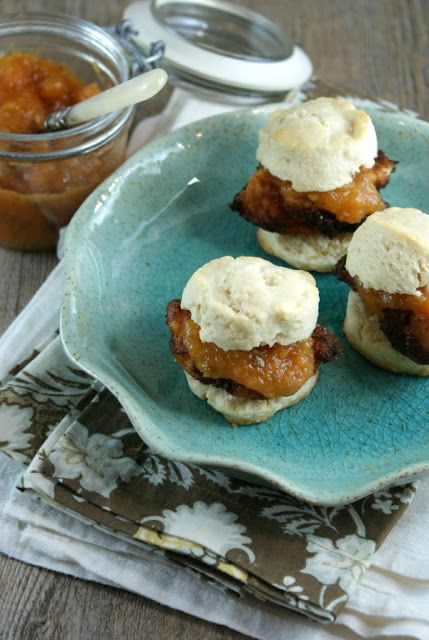 Suburban Gourmet: Southern Fried Chicken Sliders with Jalapeno Peach ...