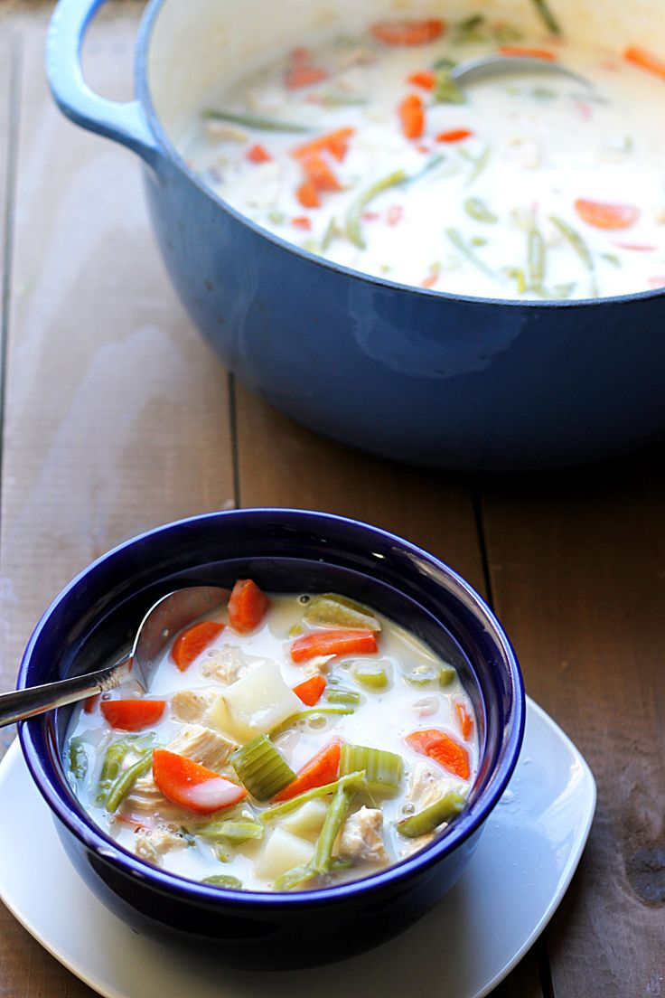 Skinny Chicken Pot Pie Soup | Sopa! | Pinterest