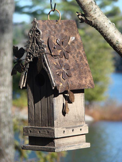 Tin Butterfly Bird House!