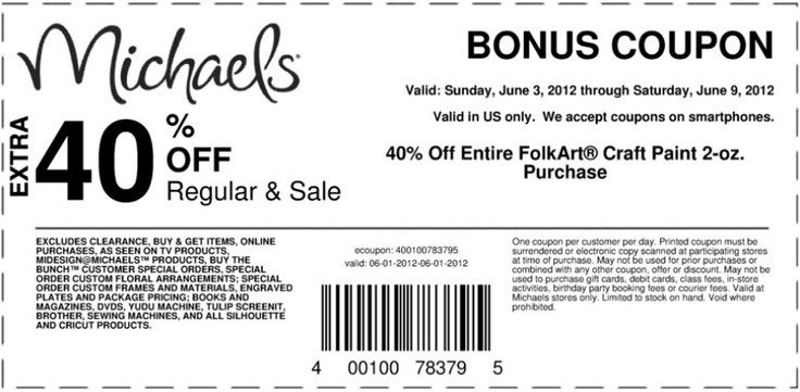 Michaels 40 coupon 2017 2018 best cars reviews for Michaels craft store coupons printable
