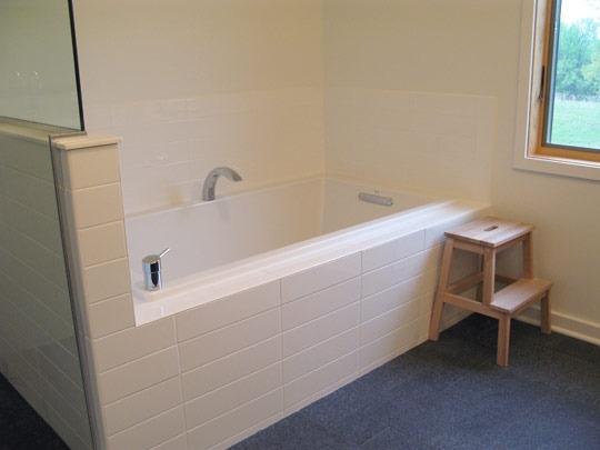 extra large subway tile bathroom ideas pinterest. Black Bedroom Furniture Sets. Home Design Ideas