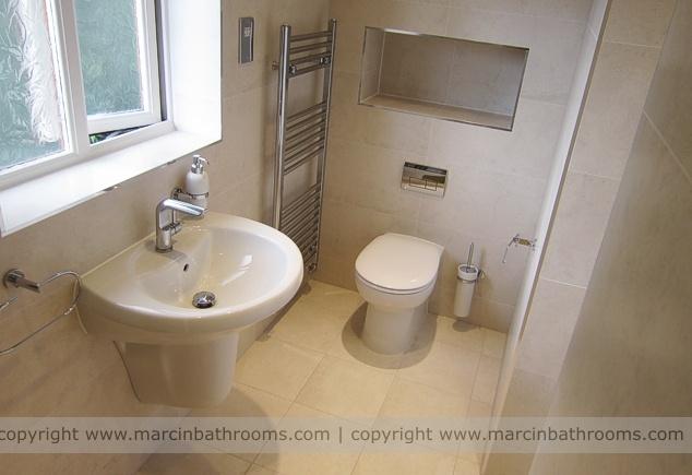 Small bathroom design wet room House and Garden Pinterest