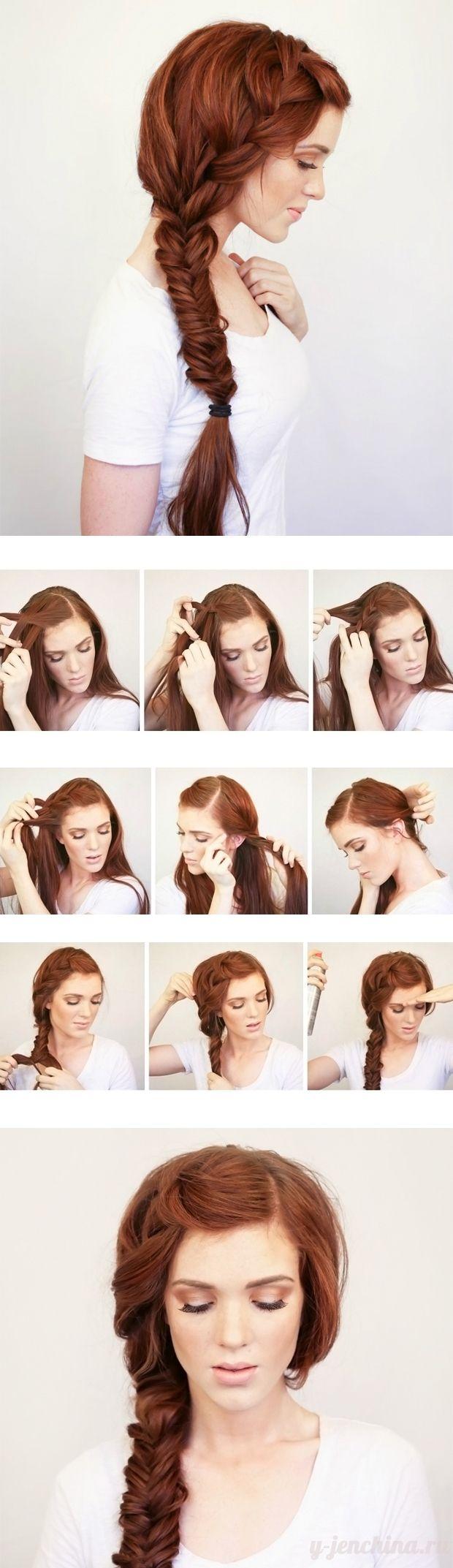 Красивая прическа на длинные волосы своими руками за 5 33