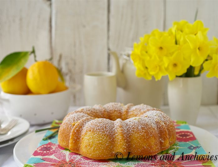 Lemon Cornmeal Cake - Ooh I may have to make this today!
