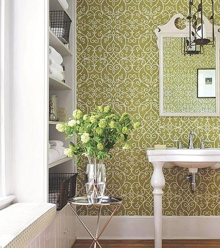 Great Wallpaper Bathroom Pinterest