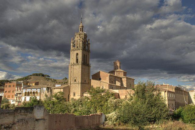Torre de la iglesia de Santa María, Los Arcos, Navarra