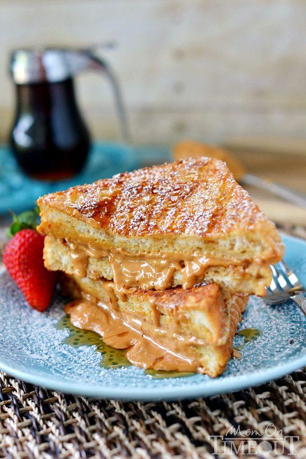 ... breakfast. Peanut Butter Stuffed French Toast. | MomOnTimeout.com