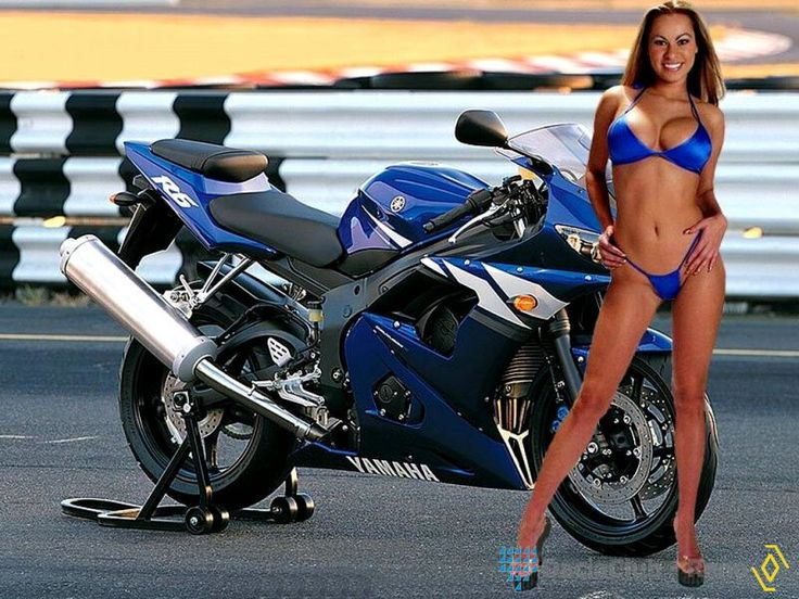 Motorcycles bikini girls on