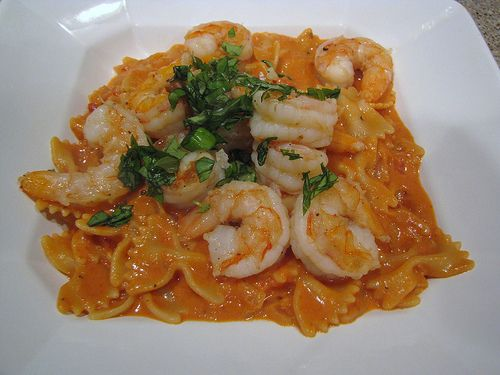 Pasta alla Vodka Sauce with Shrimp | Food and drinks | Pinterest