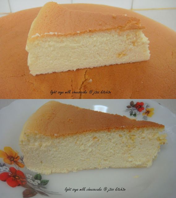 j3ss kitch3n: Light Soya Milk Cheesecake | Recipes | Pinterest