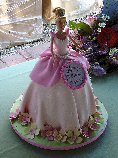 My Mom made me a similar Barbie cake for my birthday. I was maybe eight or nine.