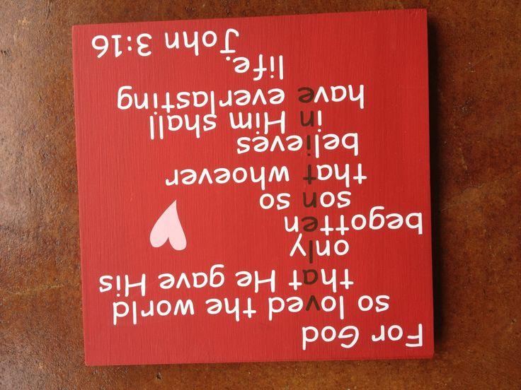 For God So Loved The World Valentine Custom Wood Sign