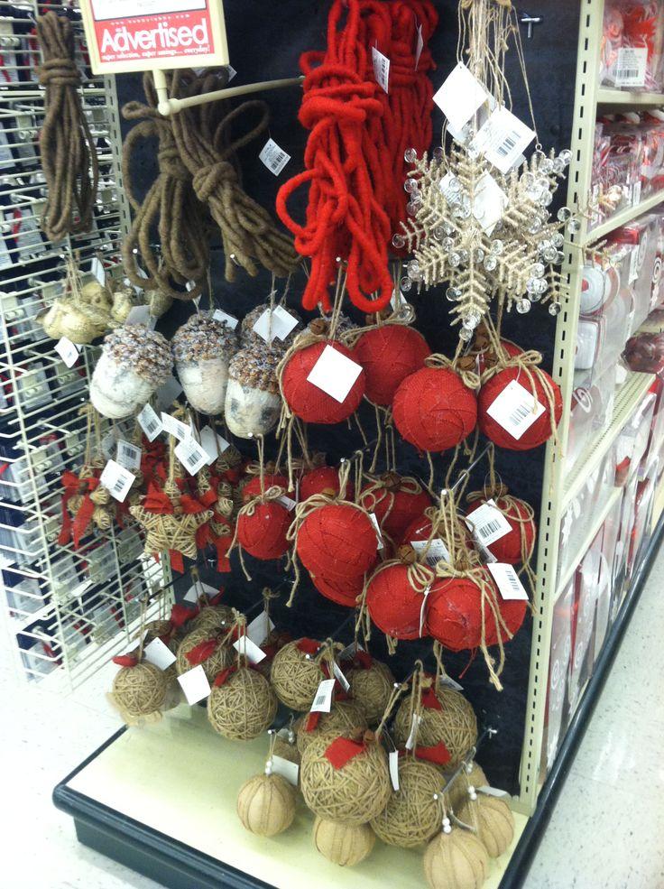 Hobby Lobby burlap Christmas ornaments  Hobby lobby  Pinterest
